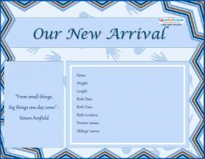 Birth Announcement Free Template. baby announcement template birth ...