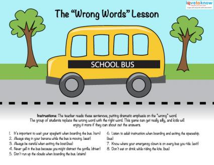 download a fun bus safety lesson