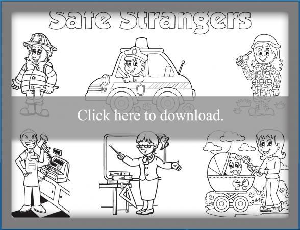 Stranger Safety Coloring Sheet Lovetoknow