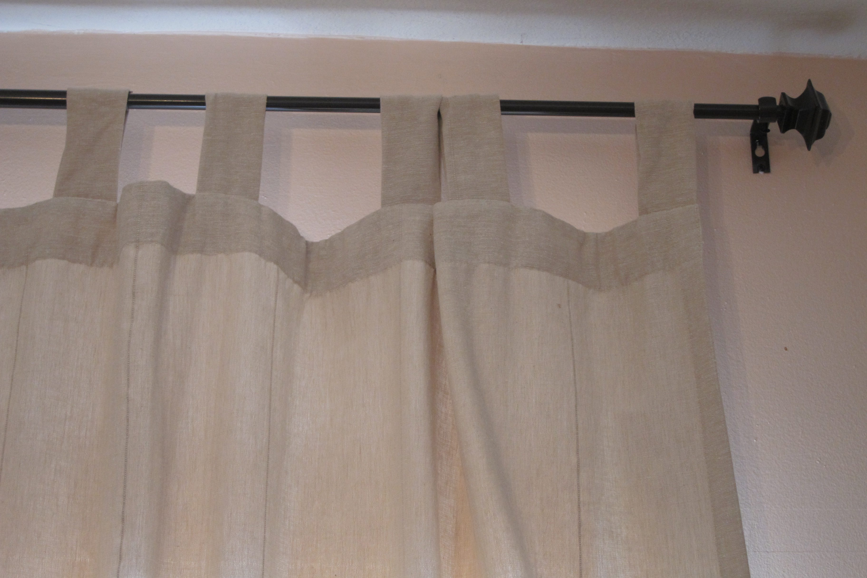 how to make tab top curtains lovetoknow