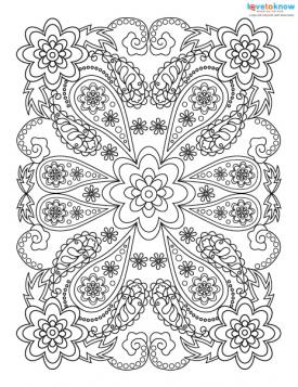 adult coloring pages for stress relief