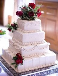 Wedding Sheet Cake Opt for a fake cake for decoration but serve sheet cake for dessert