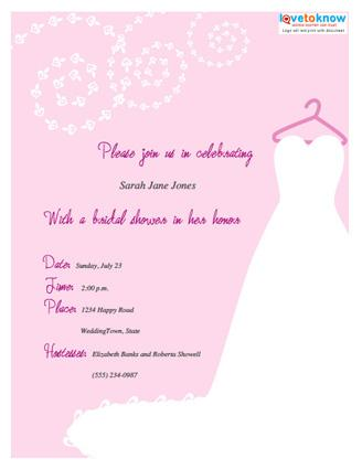 Wording For Bridal Shower Invitations Lovetoknow