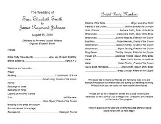 Free Downloadable Wedding Program Template That Can Be Printed ...