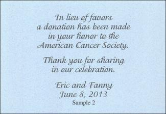 Giving Charity Donations As Wedding Favors LoveToKnow