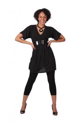 black dress and leggings