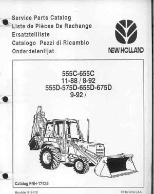 Parts for 555d ford backhoe