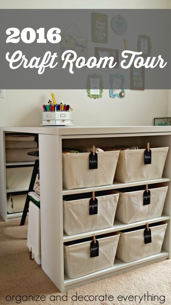 2016 Craft Room Tour – Organize and Decorate Everything