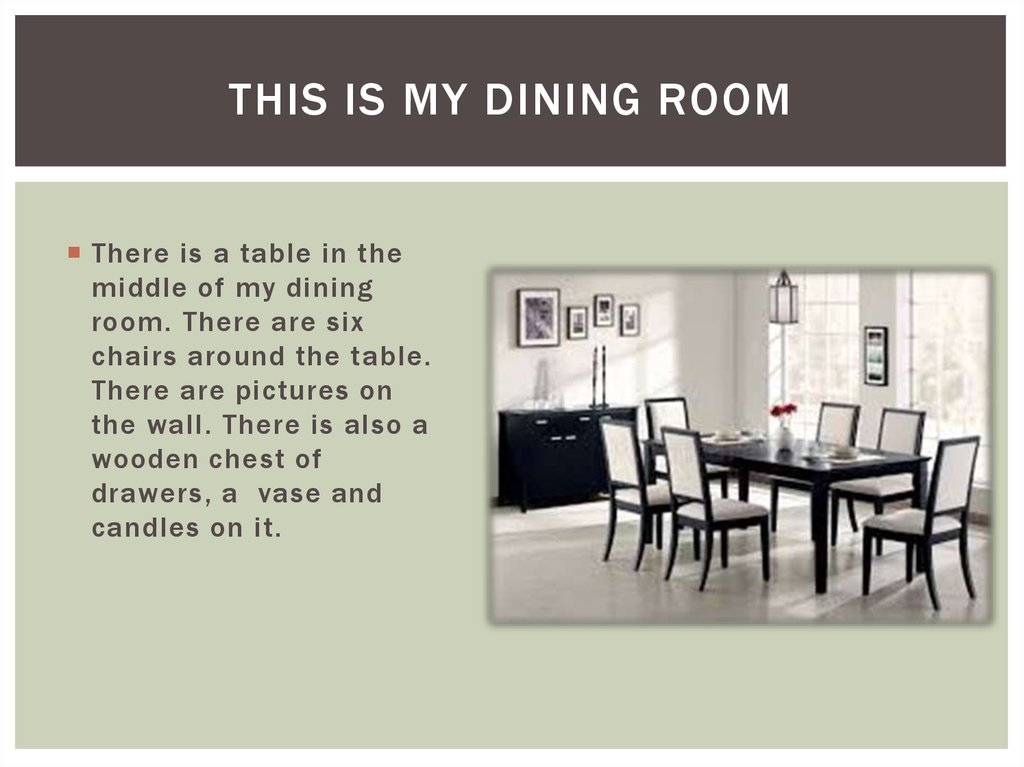 Chairs Table Dining Room 4
