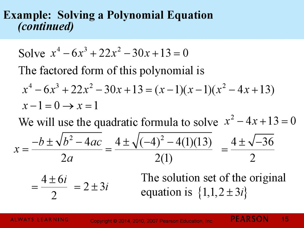 Solve A Polynomial Equation