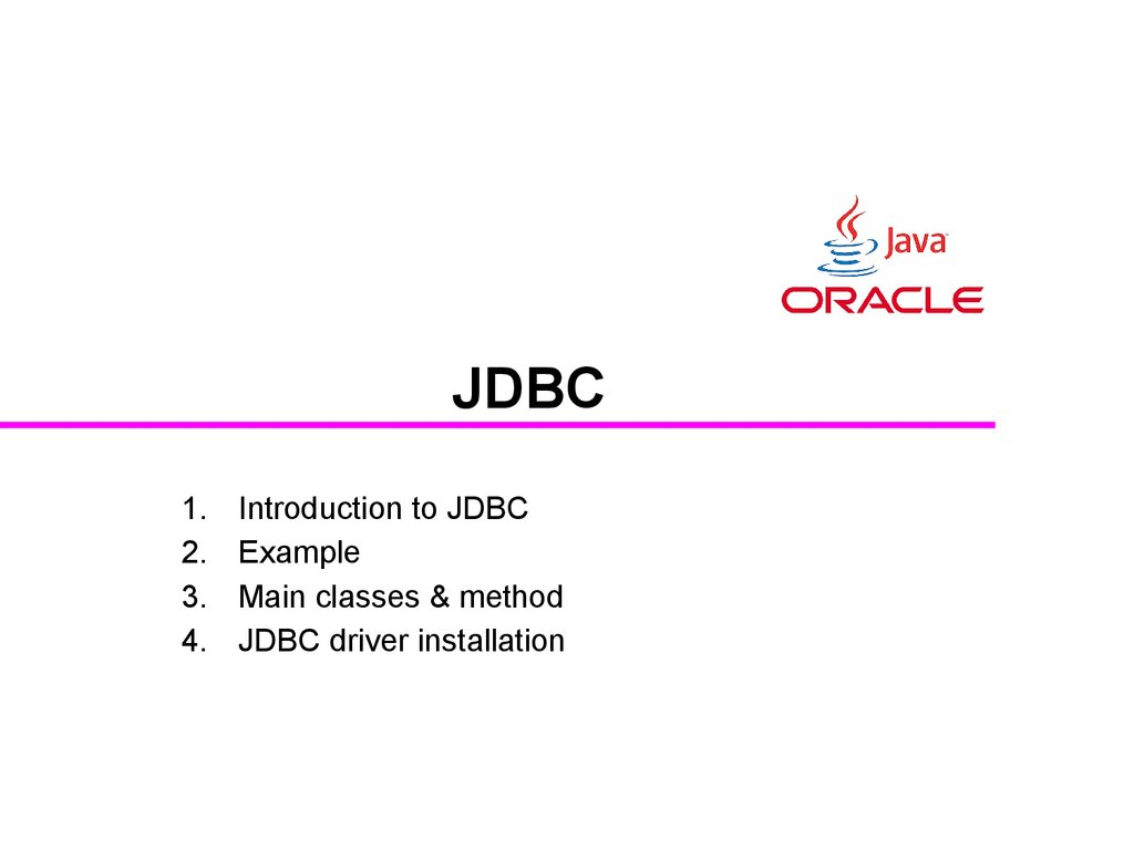 Jdbc Introduction Example Main Classes Amp Methods Driver Installation