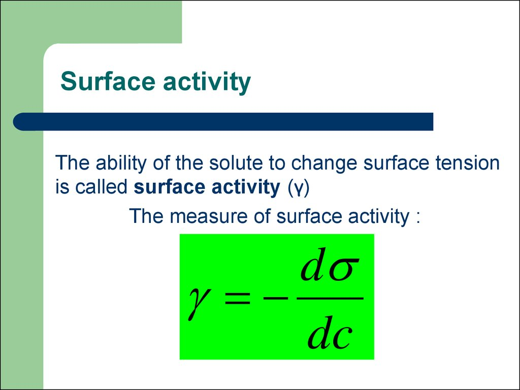 Physical Chemistry Of Surface Phenomena Basics Of Adsorptive Therapy