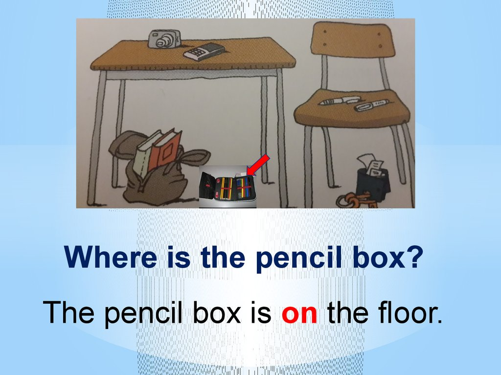 Prepositions Of Place In On Next To Under Behind In
