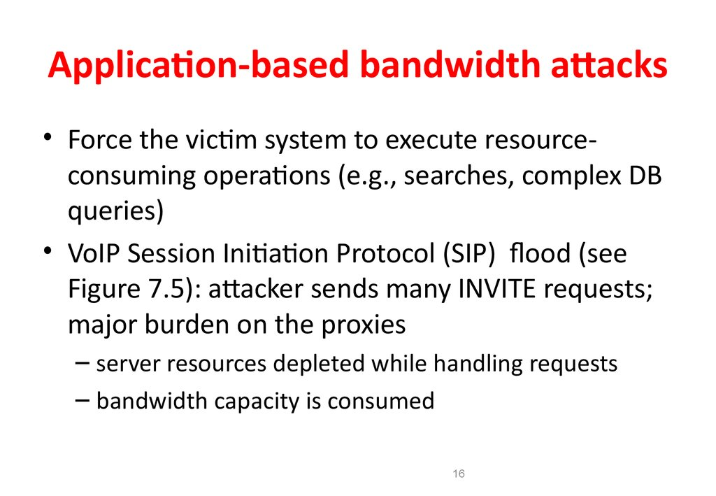 Application Based Security
