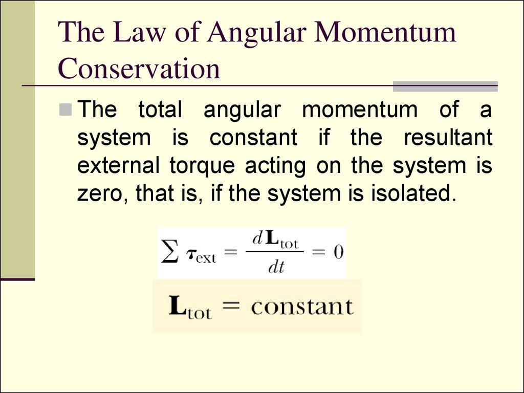 Rotation Of Rigid Bo S Angular Momentum And Torque