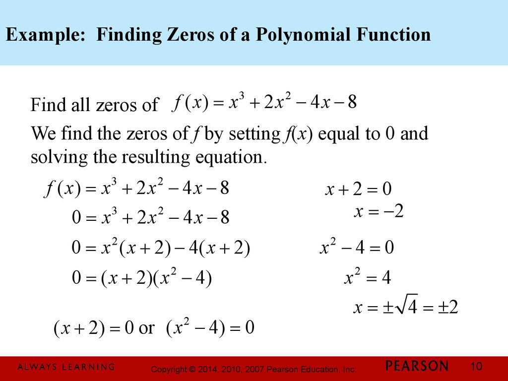 How To Determine A Polynomial Equation From Graph