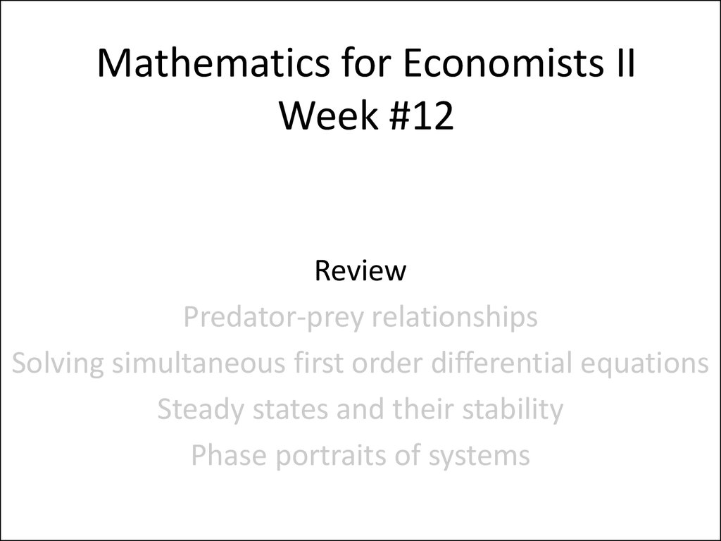 Mathematics For Conomists Week 1 12