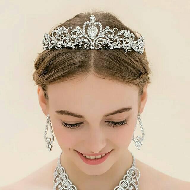 Mahkota Pesta Pengantin Aksesoris Tiara Rambut Sanggul Wedding