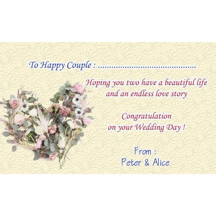 Kartu Ucapan Wedding Kartu Ucapan Pernikahan Kado Pernikahan