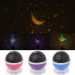 S Starry Sky Led Rotation Night Light Projector Star Moon Novelty Table Night L Shopee Indonesia