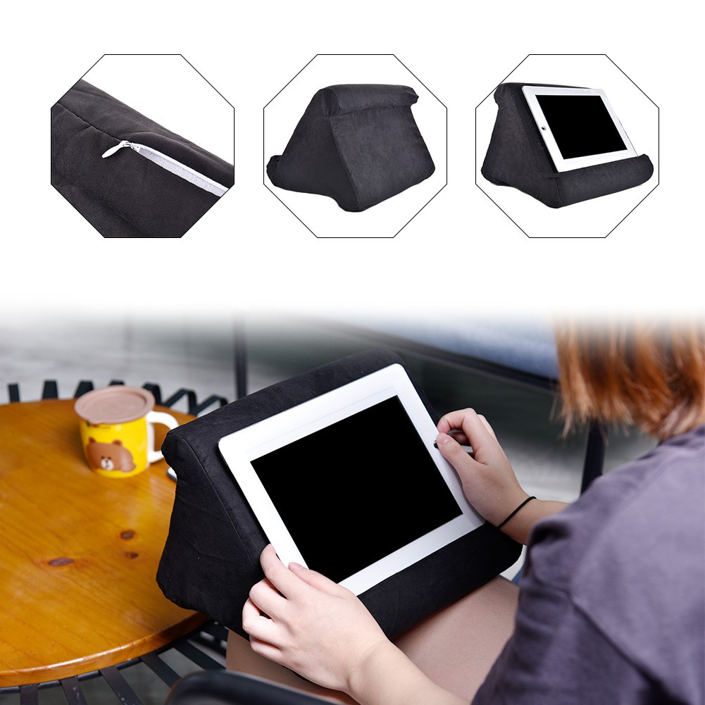 portable foldable cushion pillow stand