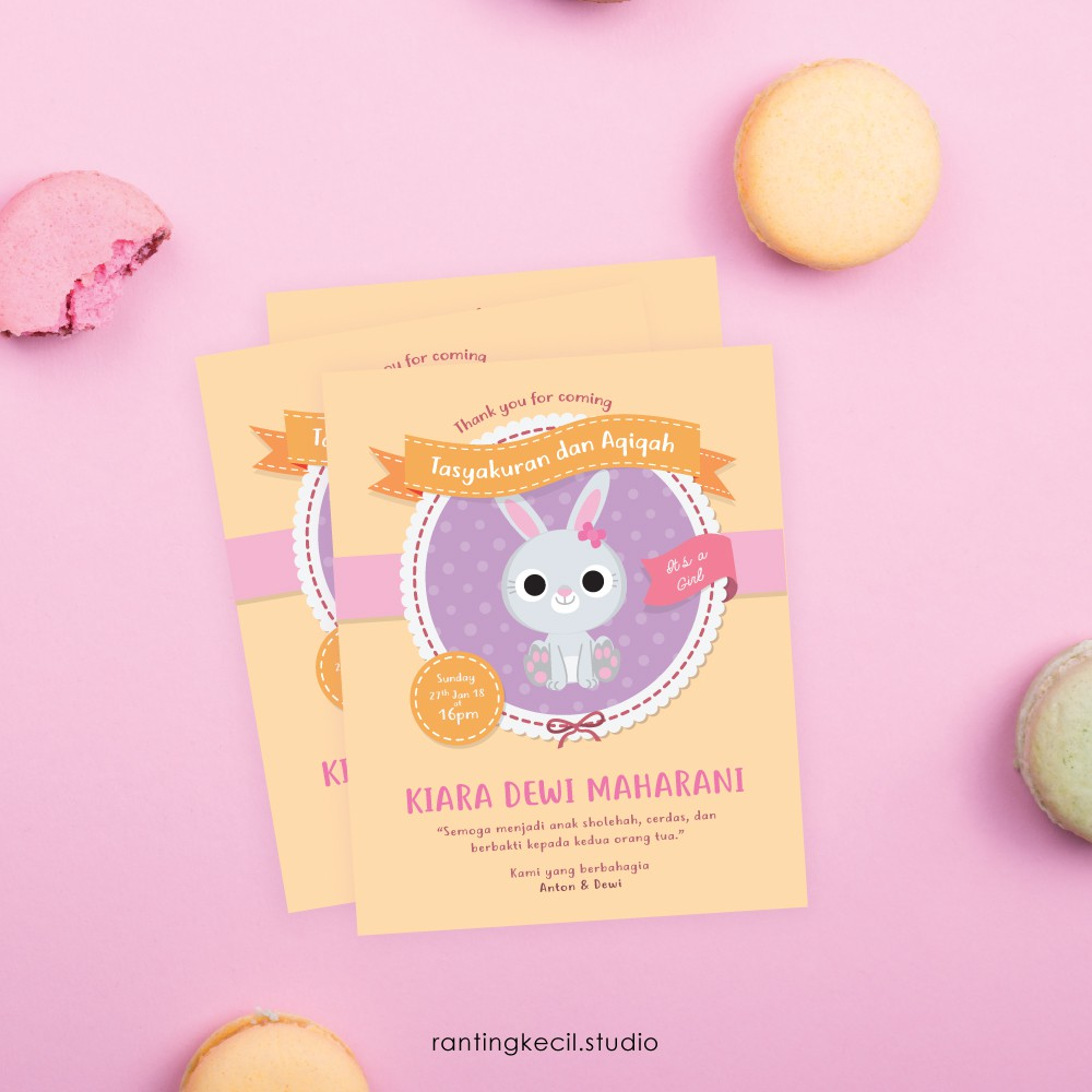 Kartu Ucapan Kelahiran Bayi Baby Card Kartu Aqiqahan Shopee