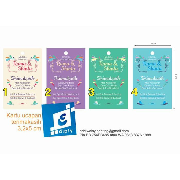 Souvenir Pesta Kartu Ucapan Kelahiran Bayi Aqiqah Dan Baby Shower