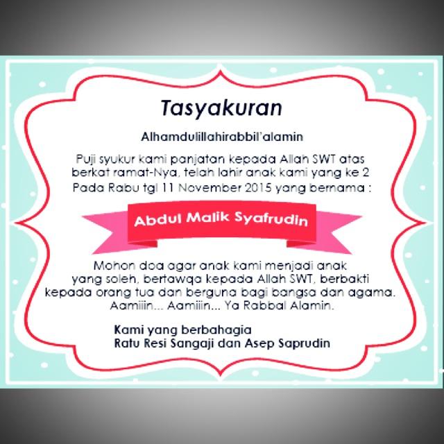 Cetak Sticker Label Syukuran Kelahiran Aqiqah Ulang Tahun Nasi Box