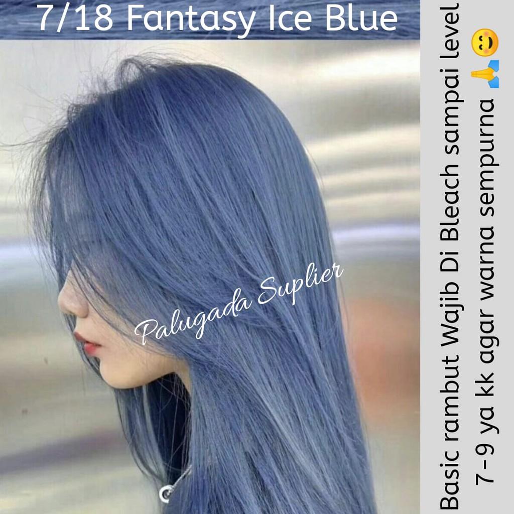 Bisa Cod Cat Rambut Fantasy Ice Blue Pewarna Rambut Semir Rambut Caltu New Style Fantasy Ice Hair Shopee Indonesia