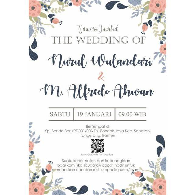 E Invitation Undangan Nikah Undangan Digital Sweet Party