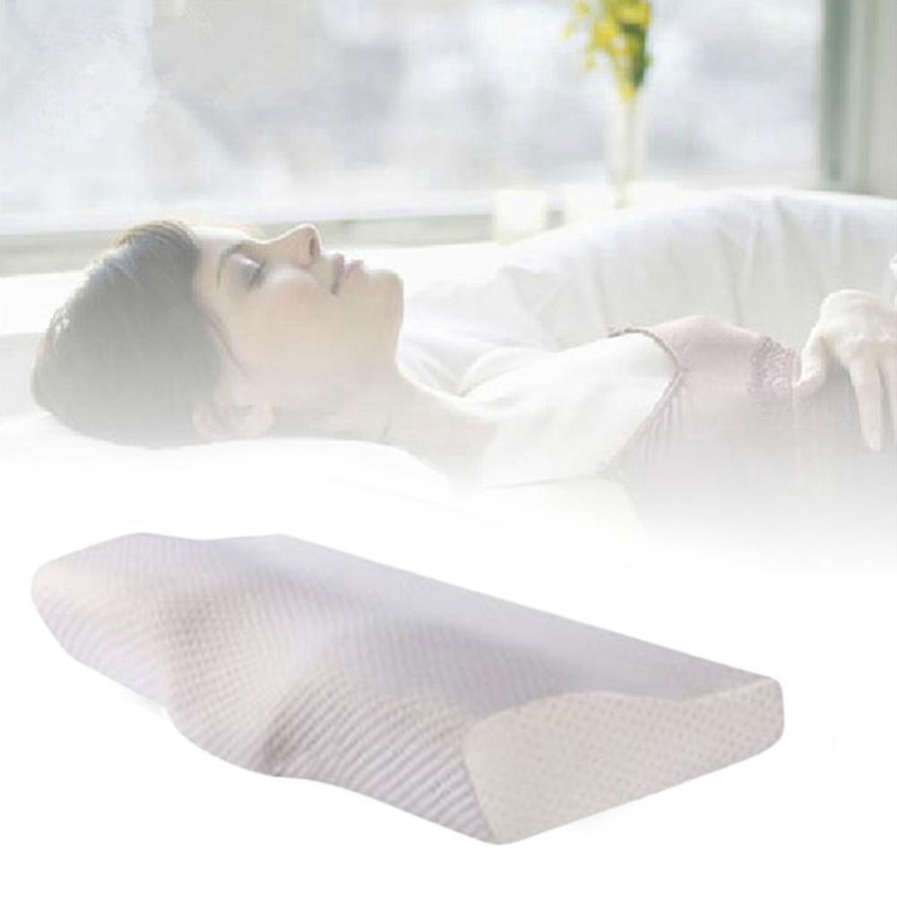 slow rebound memory foam pillow cervical contour pillow anti pain for neck k0u8