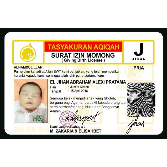 Kartu Ucapan Aqiqah Shopee Indonesia