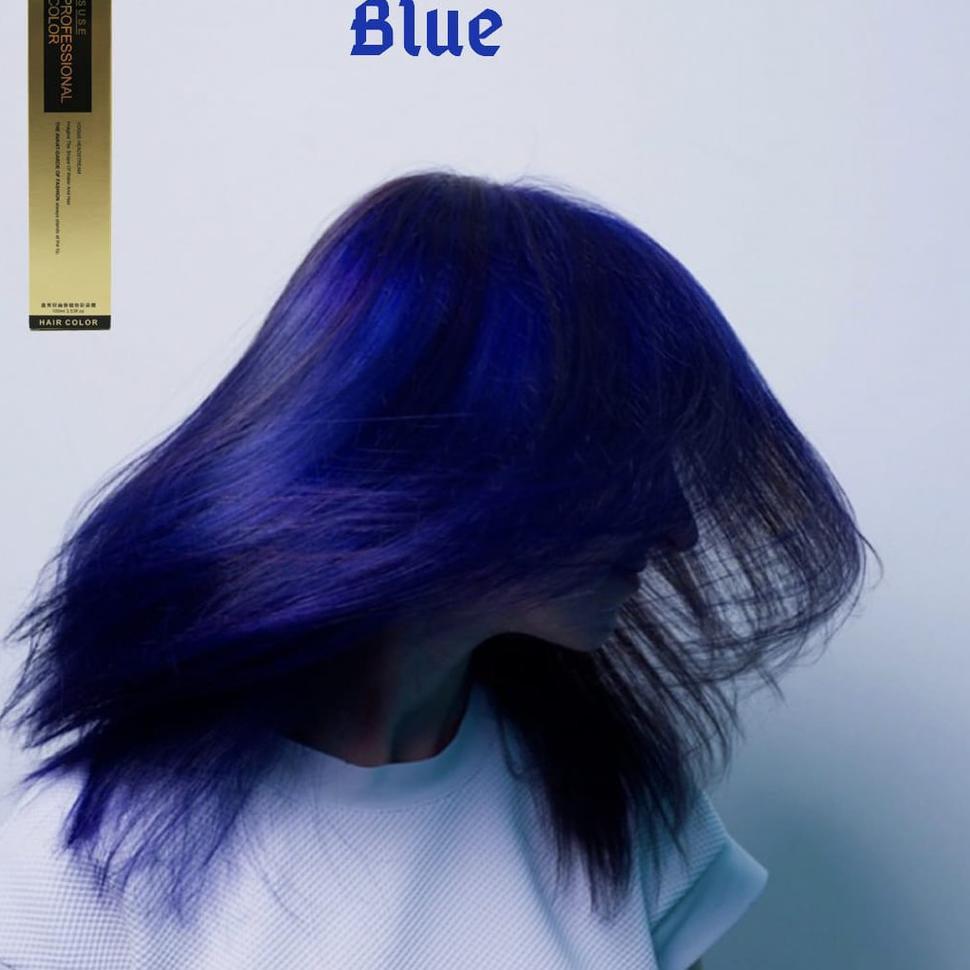 Promo Terbatas Bisa Cod Cat Rambut Profesional Blue Biru Highlight Ombre Bayalage Pewarna Ram Shopee Indonesia