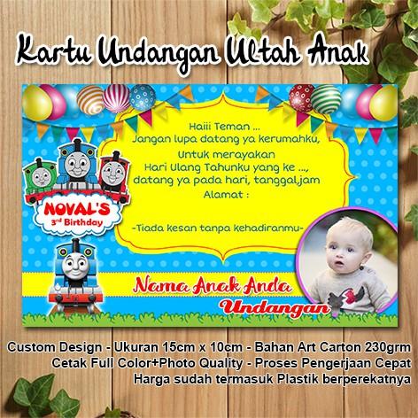 Kartu Undangan Ulang Tahun Anak Custom Thomas Friends Shopee Indonesia