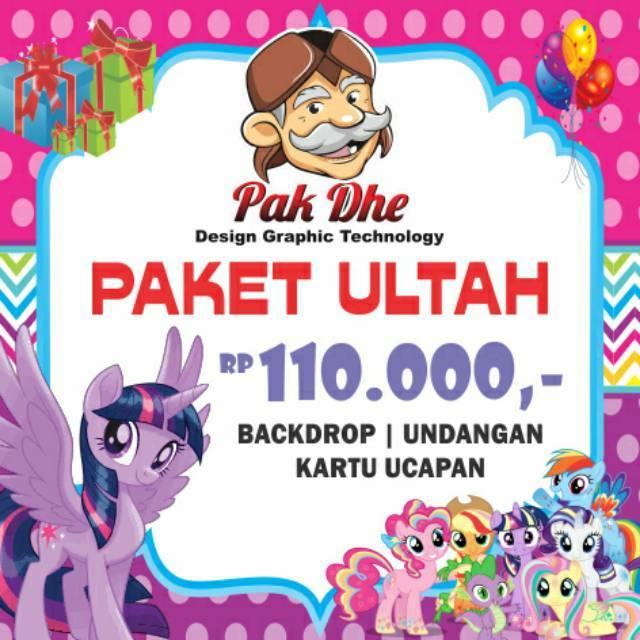 Undangan Ulang Tahun Karakter Mobile Legend Shopee Indonesia