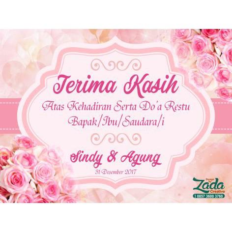 Kartu Souvenir Kartu Ucapan Terima Kasih Pernikahan Shopee Indonesia