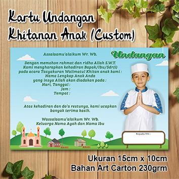 Kartu Undangan Khitanan Anak Custom Model Pemandangan Shopee Indonesia