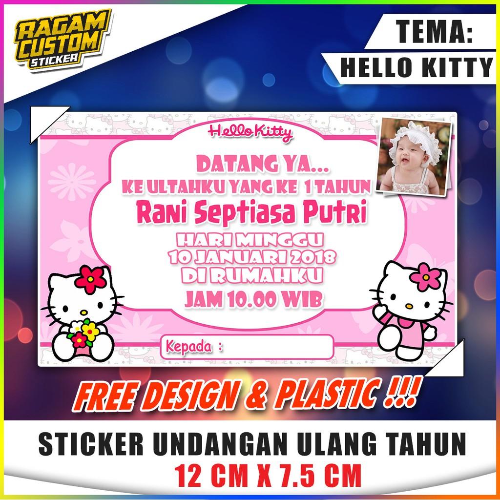 Kartu Undangan Ultah Tema Hello Kitty Shopee Indonesia