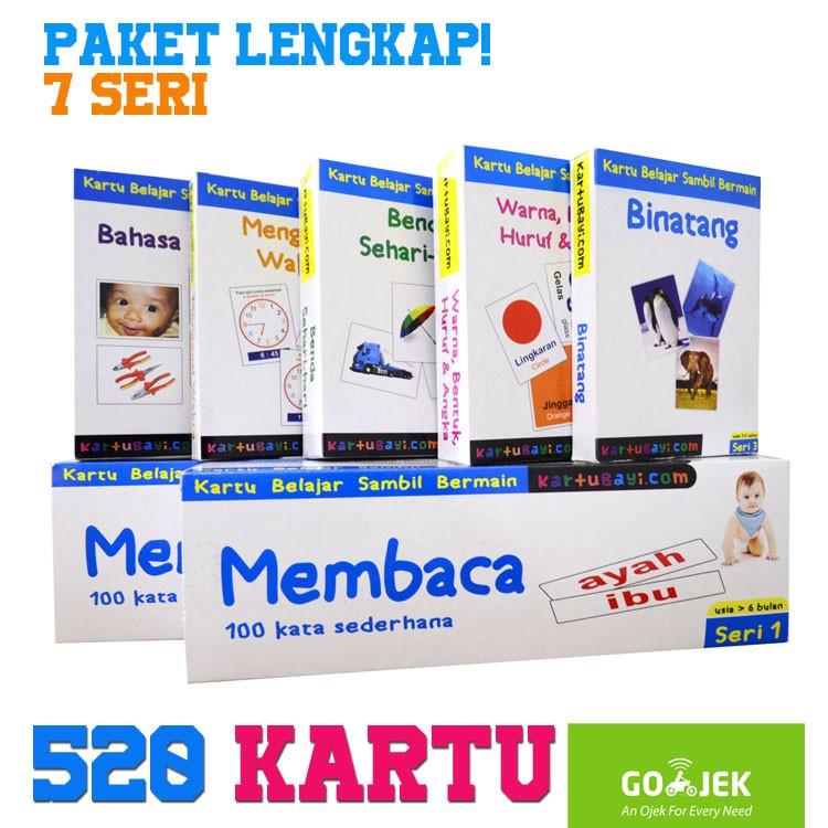 Flashcard Paket Lengkap 520 Kartu Indonesia Inggris Kartu Bayi