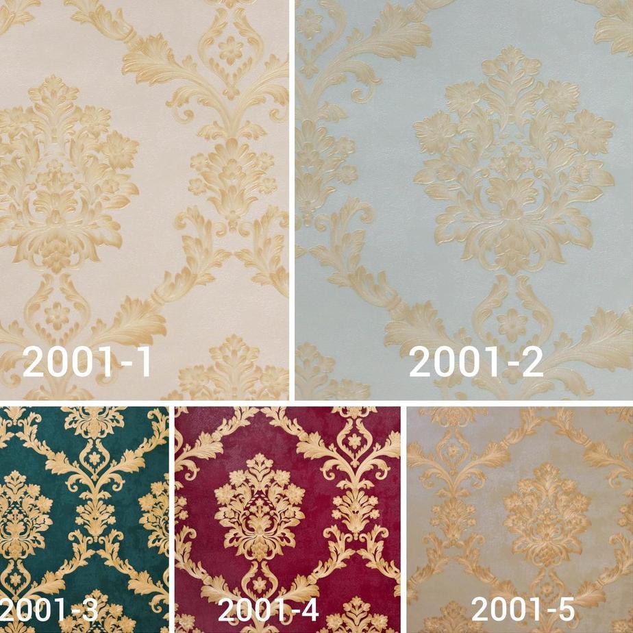 Modern Wallpaper Dinding Motif Klasik Batik Bunga Mewah Bahan Vinyl Tebal Kualitas Tinggi New Drea Shopee Indonesia