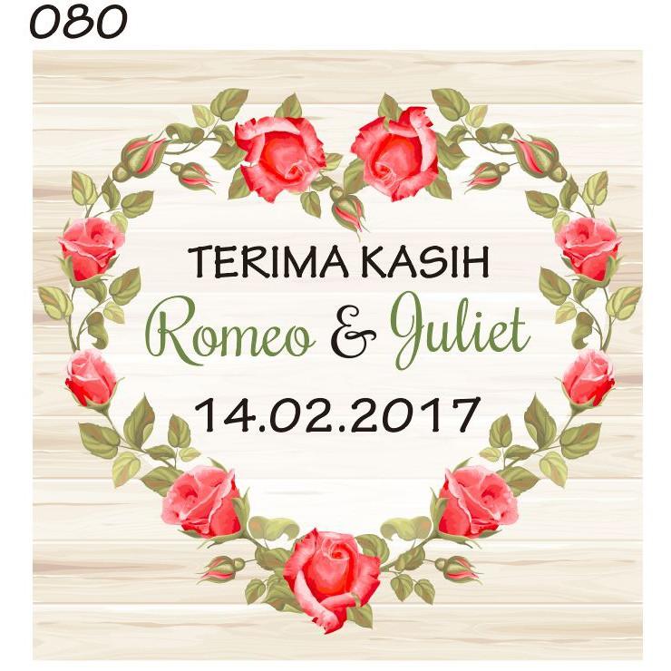 Promo 39 Kartu Ucapan Terima Kasih Souvenir Pernikahan Qr0815
