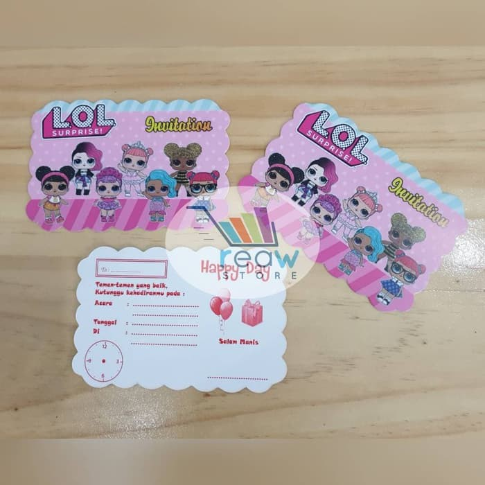 Kartu Undangan Ulang Tahun Anak Lol Surprise Shopee Indonesia