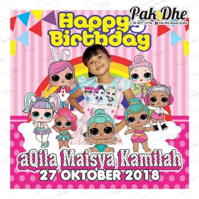 Paket Undangan Ulang Tahun Karakter Unicorn Shopee Indonesia