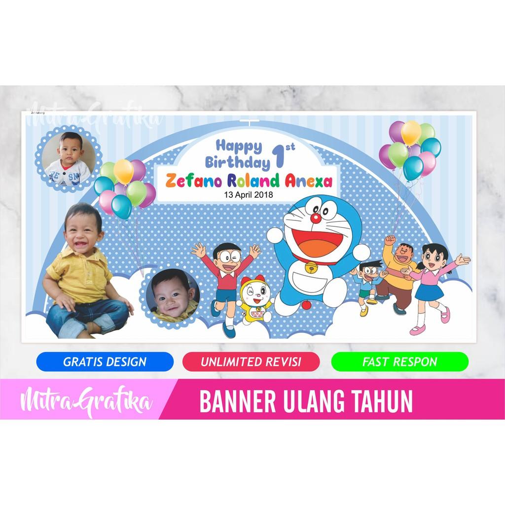 Backdrop Ultah Background Banner Ulang Tahun Tema Tayo Cewek Gratis