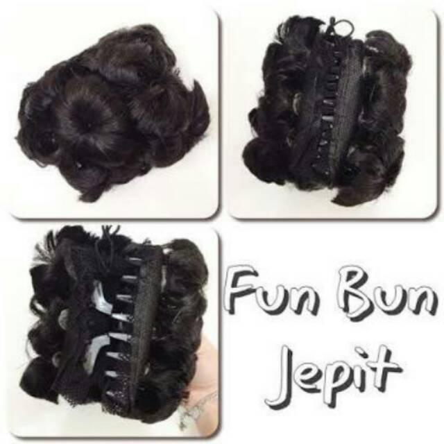 Fun Bun Sanggul Jepit Shopee Indonesia