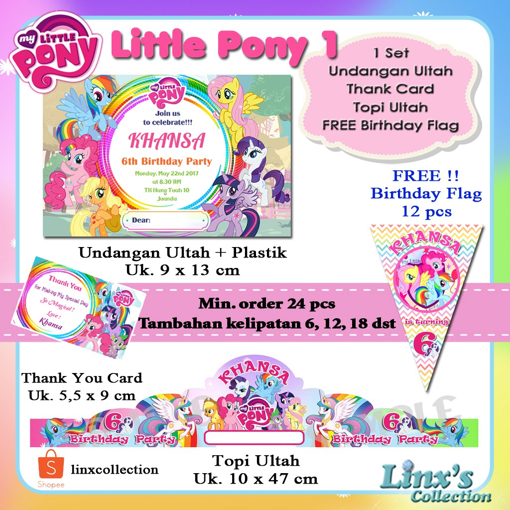 Undangan Ulang Tahun Anak Plastik Isi 10 Pcs Shopee Indonesia