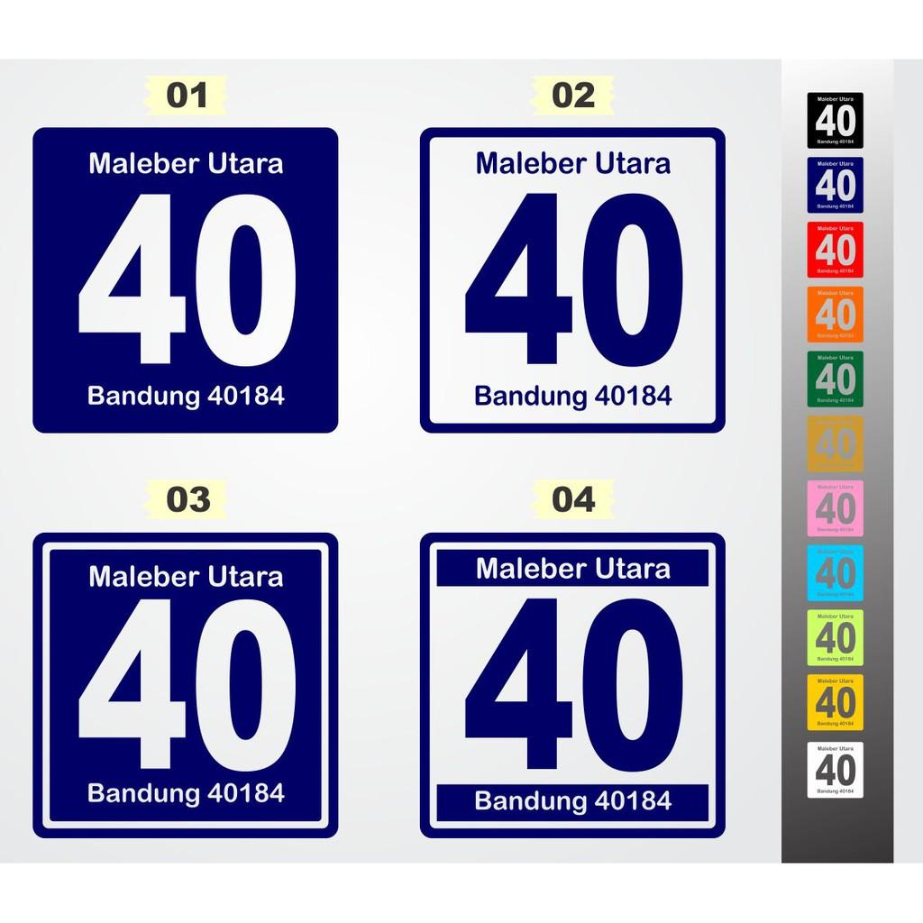 Stiker Cutting Sticker Nomor Rumah Shopee Indonesia