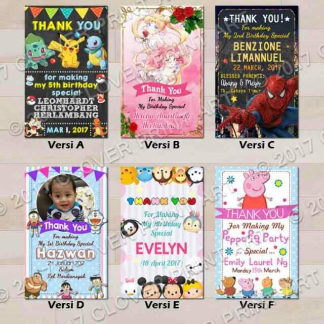 Thanks Card Kartu Ucapan Ulang Tahun Anak Shopee Indonesia