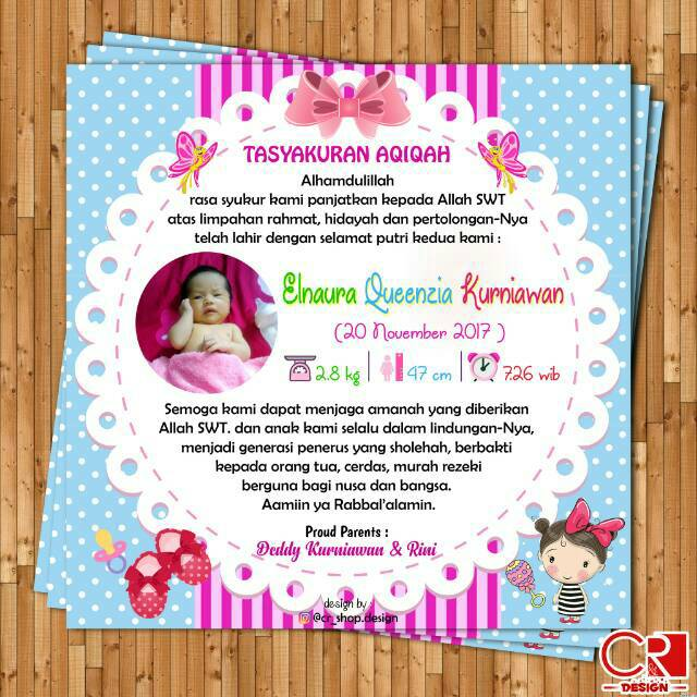 Stiker Label Syukuran Aqiqah Shopee Indonesia
