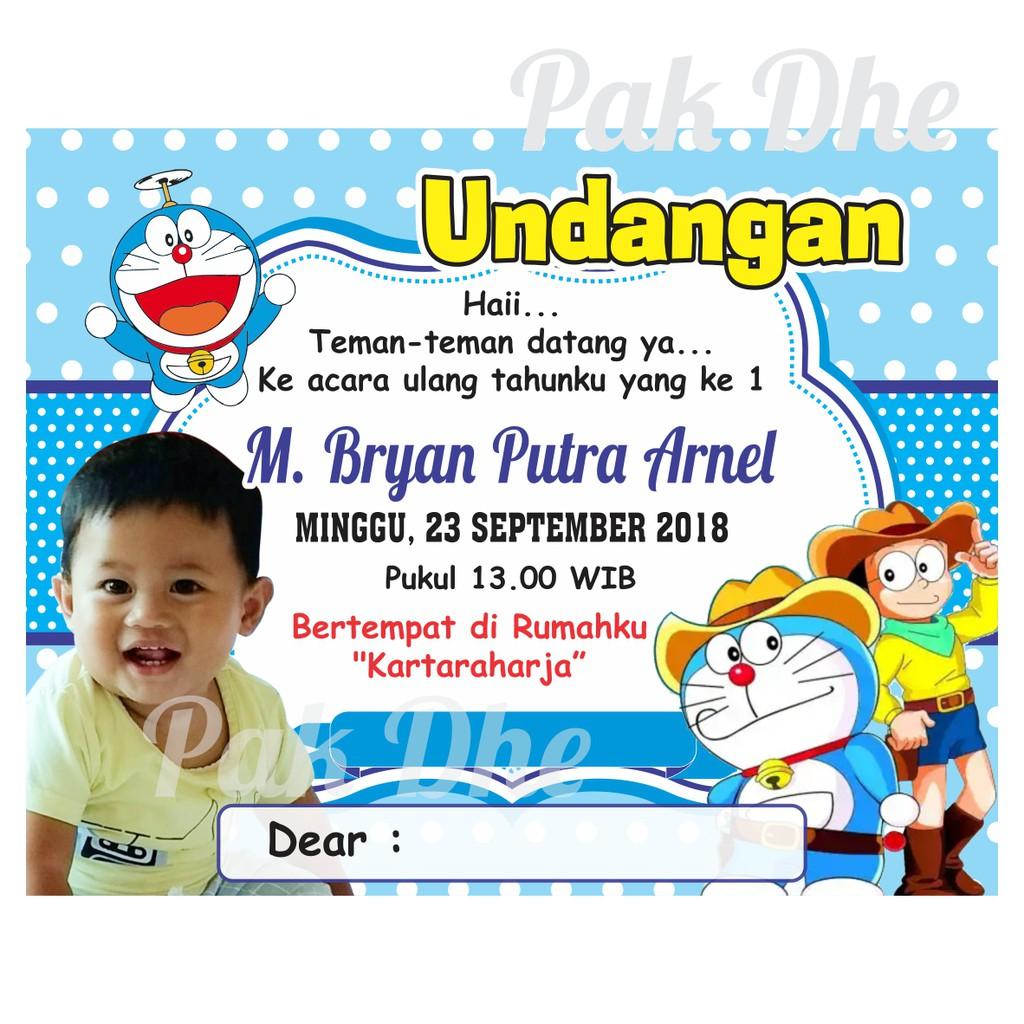 Undangan Ulang Tahun Karakter Doraemon Undangan Ultah Undangan